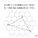 第35問 正六角形と三角形