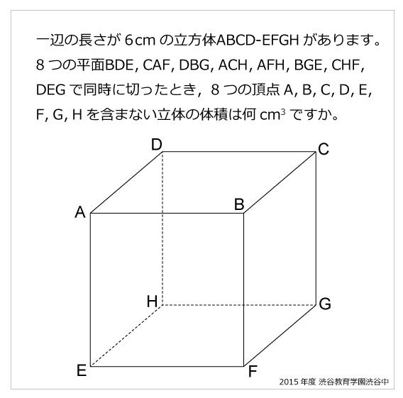 渋谷教育学園渋谷中(2015年)立体の切断