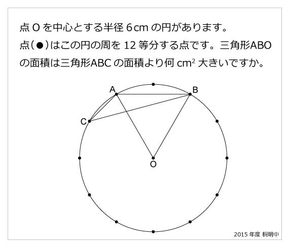 桐朋中(2015年)30度・円