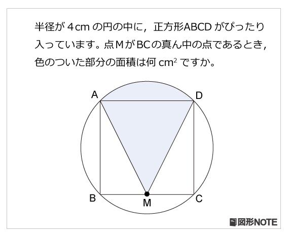図形NOTEプレ5年生 円と正方形