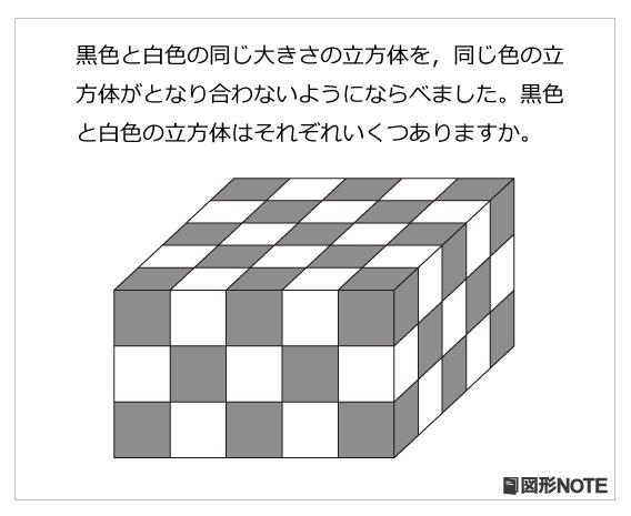 図形NOTEプレ4年生 立方体の積み木