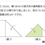 レベル5 長方形の折り紙