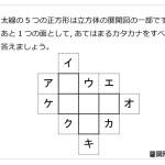 レベル3 立方体の展開図