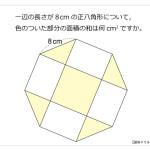 第168問 正八角形と面積の和
