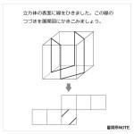 レベル4 立方体に線を引く
