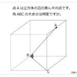 第243問 立方体にできる角度
